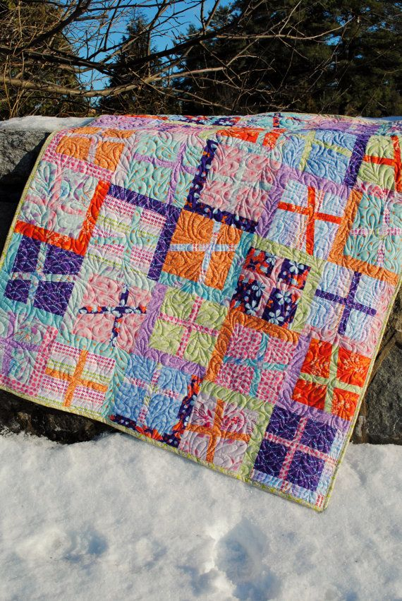 Quilt Pattern For 9 Fat Quarters : QUILT PATTERN.... Quick and Easy...uses Fat Quarters or yardage, Plus?