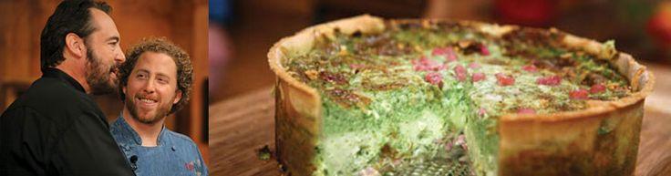 Green Eggs & Ham - Spinach, Ham & Cheese Quiche Chef Danny Bortnick ...