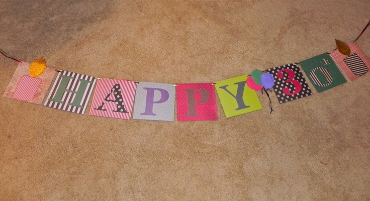diy birthday banner banners galore pinterest