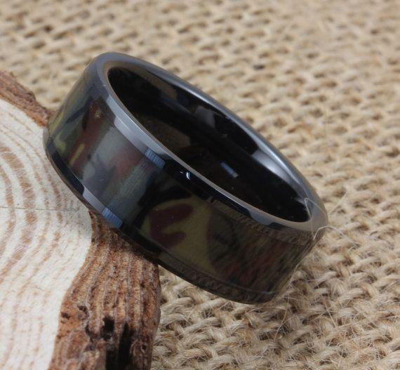camo ring black wedding band original camo wedding ring