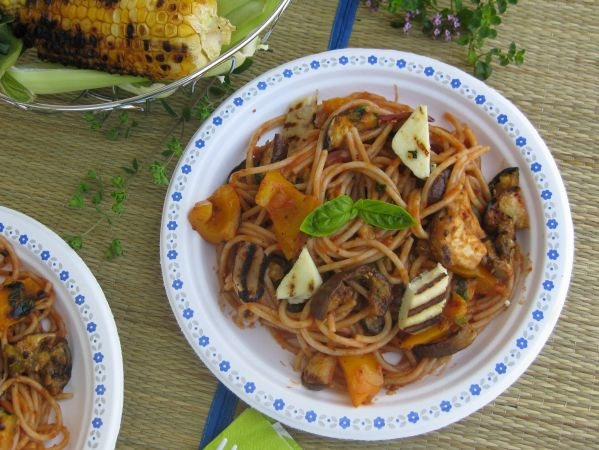 Spaghetti with grilled ratatouille | Pasta Recipes | Pinterest
