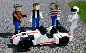Jezza, May, Hamster & The Stig as Lego's.