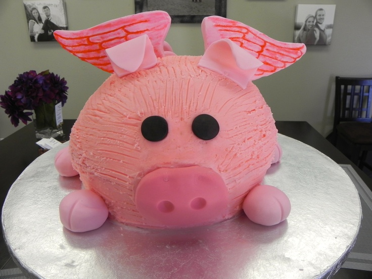 Flying Pig Birthday Cake Birthdays and Special Occasions ...