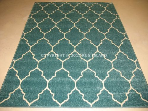 Aqua area rug 8x10