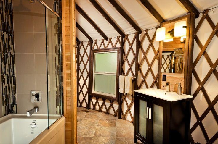 Beautiful yurt bathroom tiny house dreams pinterest for Yurt bathroom designs