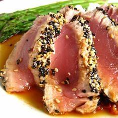Sesame Crusted Ahi Tuna Steak | Eating Healthy | Pinterest