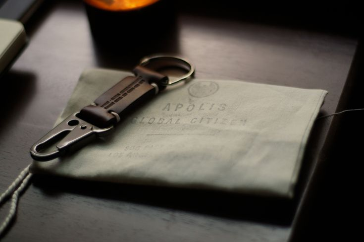 Love the design. Apolis Transit Keychain - http://store.apolisglobal.com/accessories/transit-issue-key-chain/#black