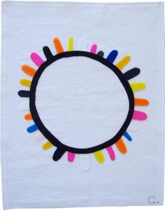 BLACK SUN embroidery by Rachel CASTLE