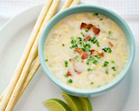 chowder-recipes creamy corn chowder