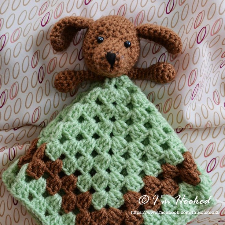 Free Crochet Pattern For Animal Security Blanket : #crochet #lovey, free pattern Craft - Crochet Pinterest