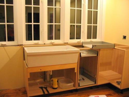 Ideas Habitaciones Juveniles Ikea ~ Modifying a sink base for non IKEA apron front sink
