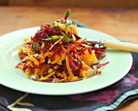 Recipe for raw beet, butternut and pecan slaw {vegan, gluten-free ...