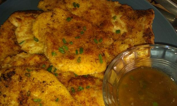 Chicken Schnitzel With Anchovy-Chive Butter Sauce | Recipe