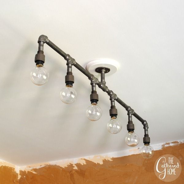 how to make a fabulous plumbing pipe light fixture. Black Bedroom Furniture Sets. Home Design Ideas