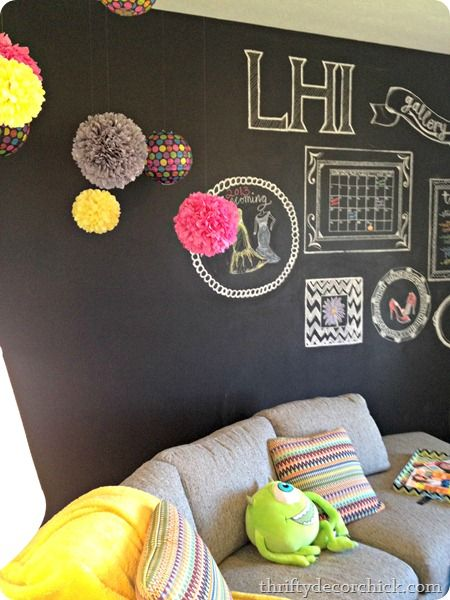 Love the chalk art on this wall!