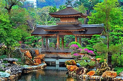 Pagoda in chinese zen garden china pinterest - How to create a chinese garden ...
