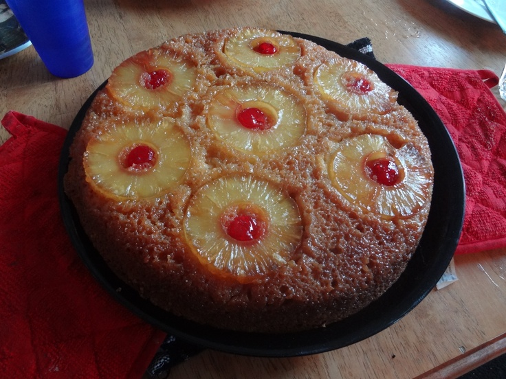 Skillet pineapple upside-down cake | This is Me and What I Have Done ...