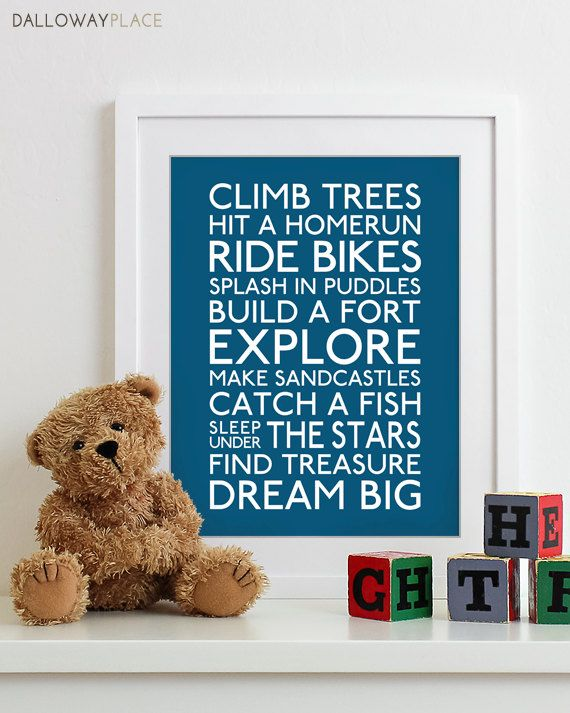 Baby Boy Nursery Decor Boy Wall Art Baby Boys Room Boys Decor Boy