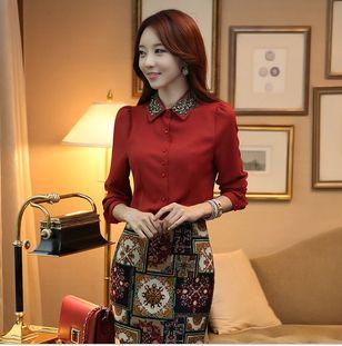 ... long sleeve shirt Korean women OL chiffon shirt bottoming shirt $18.90