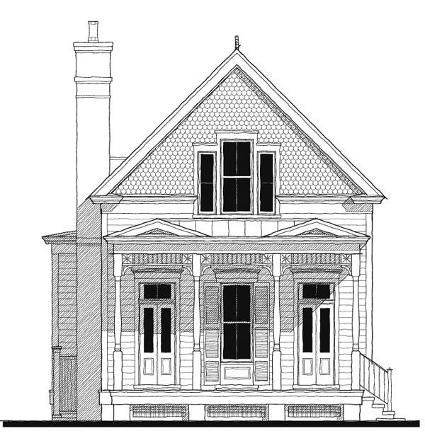 Historic Southern House Plan 73736