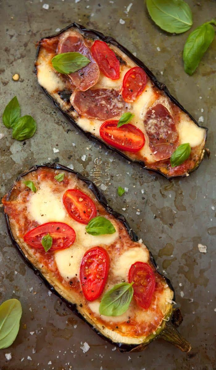 Aubergine (Eggplant) Pizza Recipe | Recipes to try | Pinterest