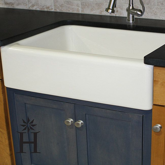 ... alkai. This unique sink features an elegant farmhouse installation