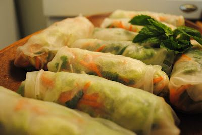 Culinary Adventures with Camilla: Food Matters Project: Fresh Spring Rolls with a delicious Peanut Sauce