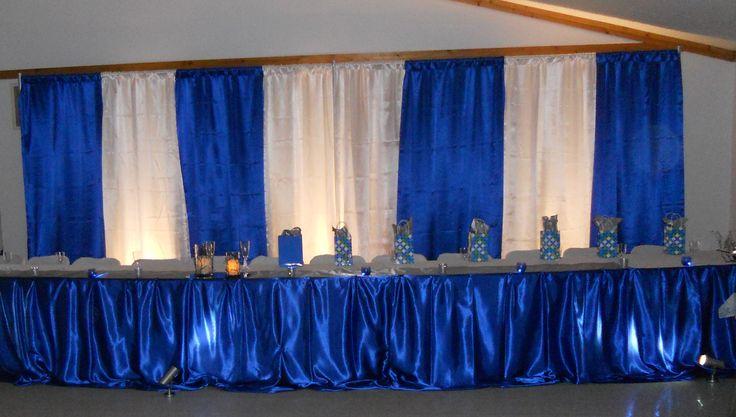 Royal Blue Head Table Decor Wedding Backdrop Ideas