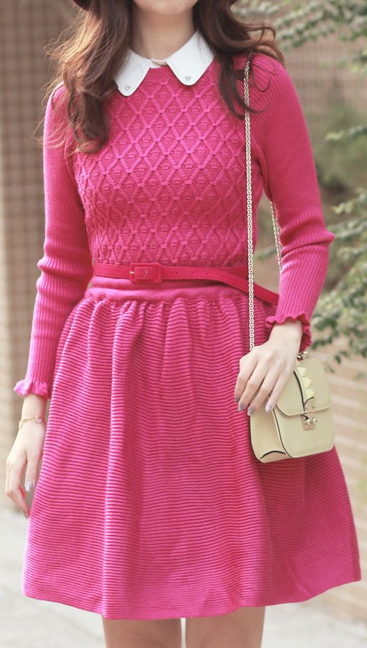 hot pink in winter