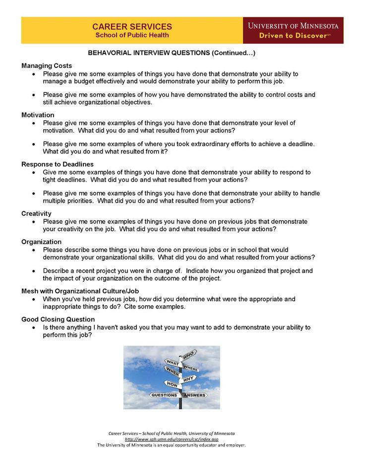Types Of Job Interview Questions  Job Interviews Behavioral