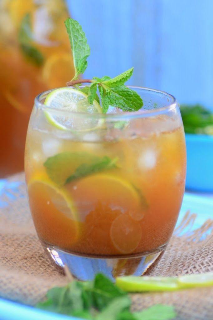 Passion fruit iced tea recipe dishmaps for Easy fruit tea recipe
