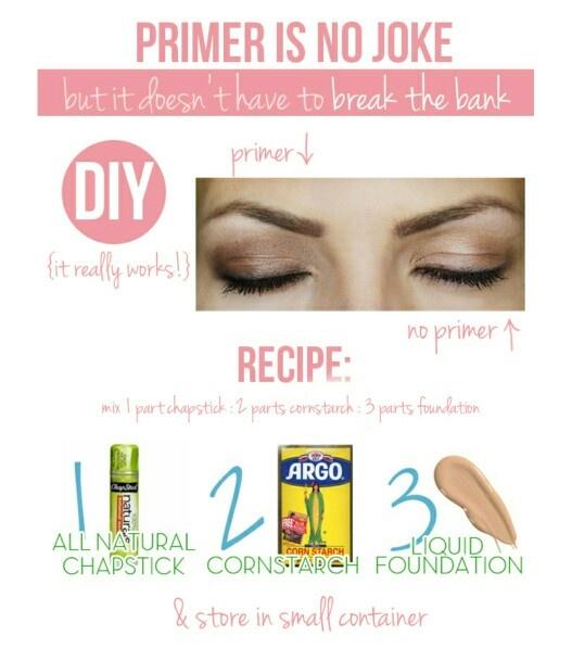 diy primer diy eyeshadow primer maskcara makeup