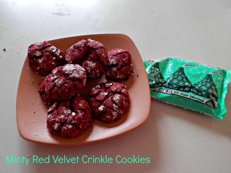 Minty Red Velvet Crinkle Cookies | Baked Goods | Pinterest