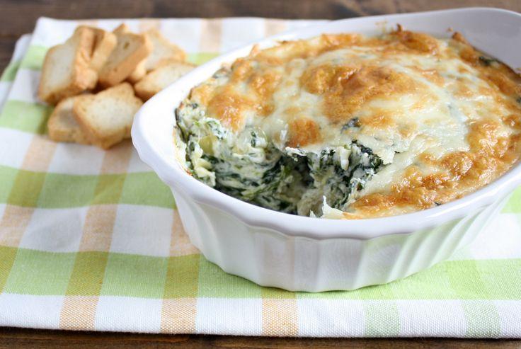 Skinny Spinach Artichoke Dip | Recipe
