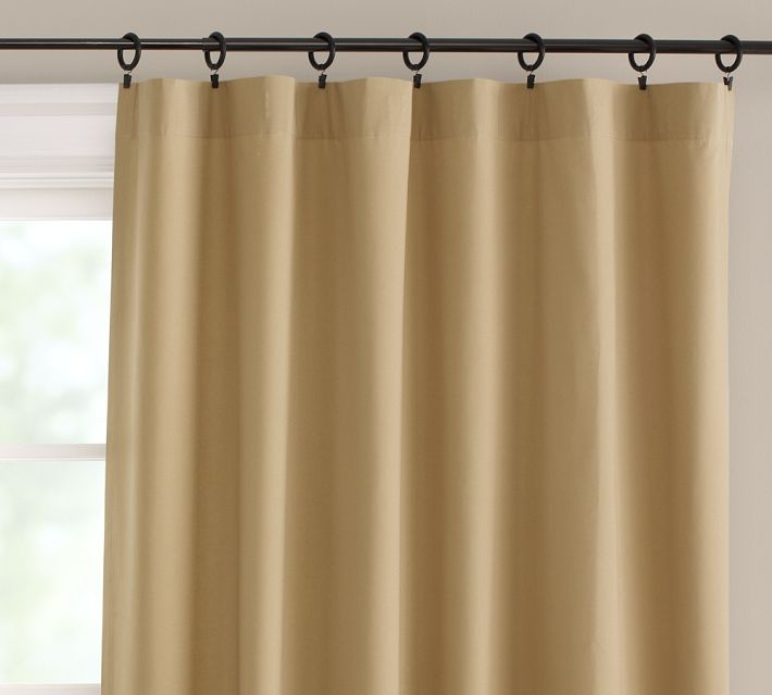Linen Straw Curtain - pottery barn | Our New Home | Pinterest