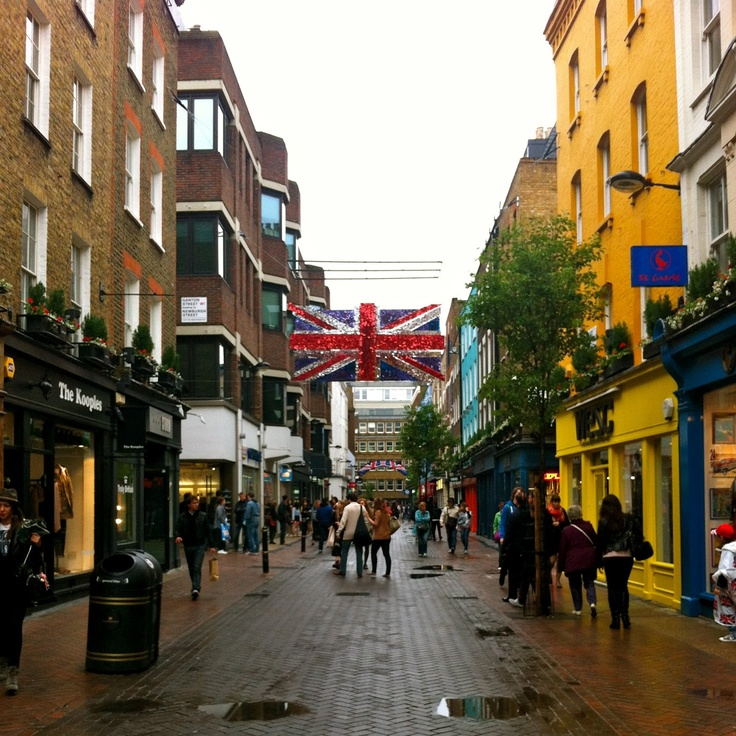 shopping on Carnaby Street