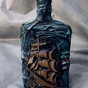 botellas decorativas - vidrio, cuero, cerámica, fundación