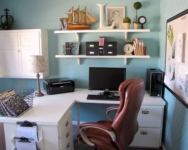 organized small office designing my office pinterest