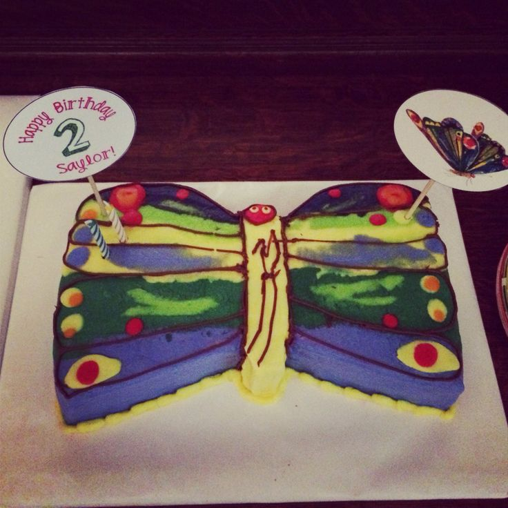 Very Hungry Caterpillar Butterfly Cake Very Hungry Caterpilla...