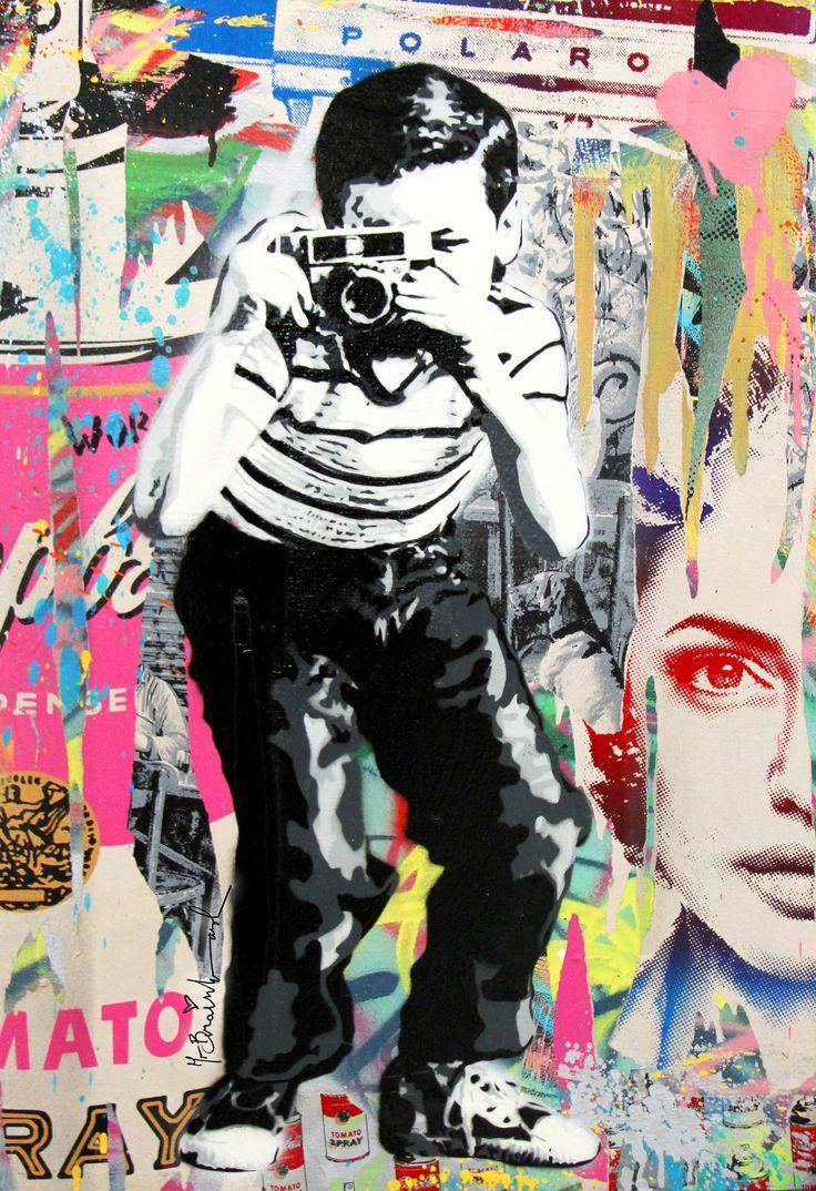 Mr brainwash magnifique pinterest for Mural by mr brainwash