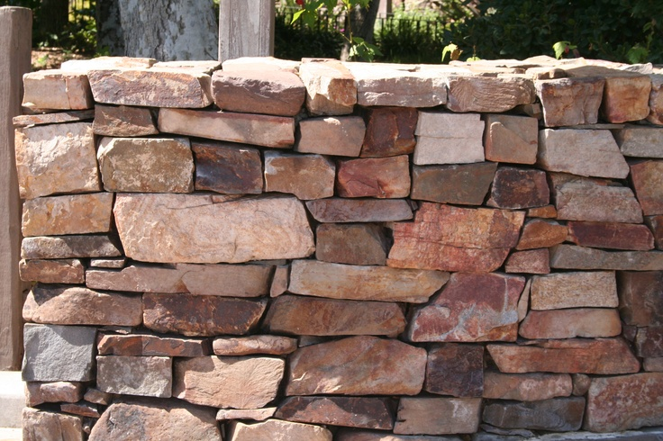Dry Stack Stone Retaining Wall Outdoor World Pinterest