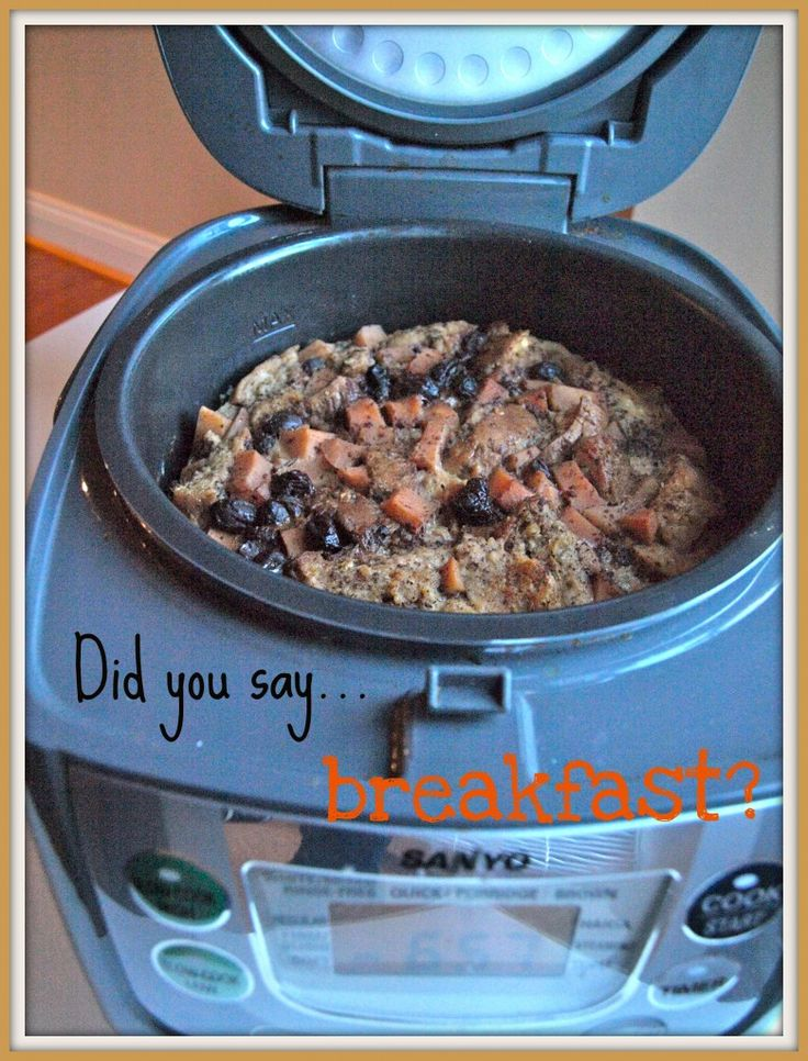 Apple Cinnamon Bread Pudding | Crock Pot Recipes | Pinterest