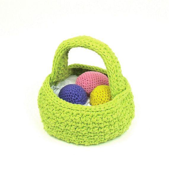 Crochet Egg Basket : Crochet Easter Egg Basket
