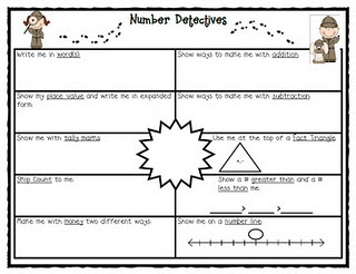 Number Detectives. This would be great for morning work!