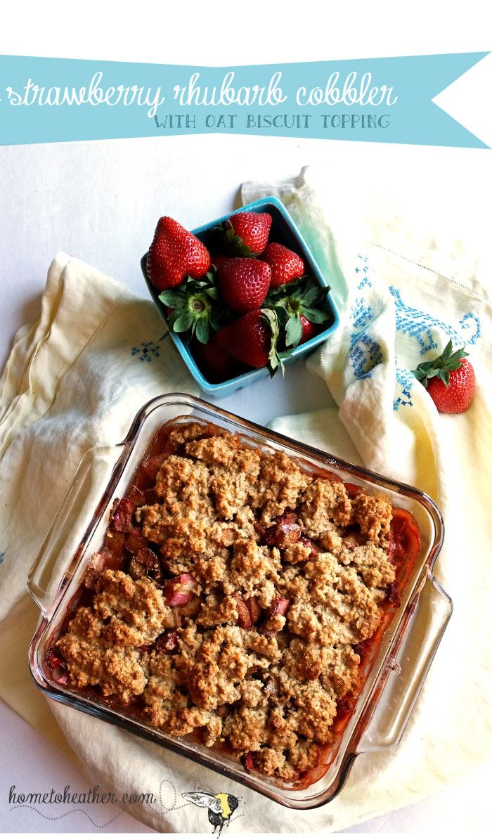was a satisfying strawberry rhubarb dessert with a cakey gluten free ...