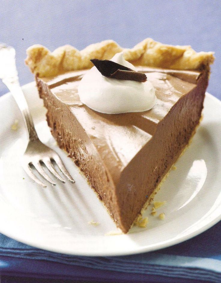 French silk chocolate pie | Appetizers | Pinterest