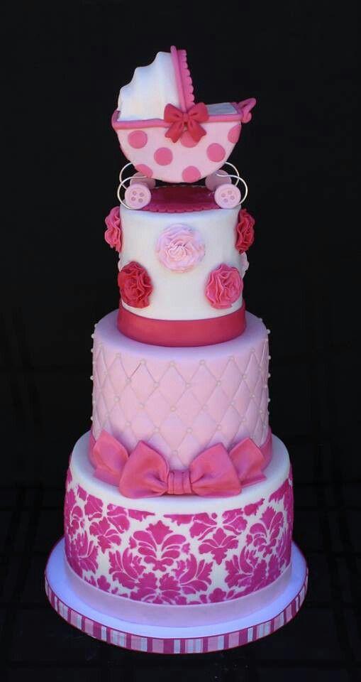 three tier baby shower cakes