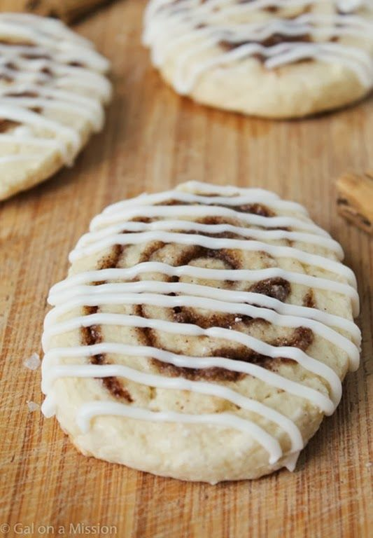 Cinnamon Roll Cookies | Recipes to try | Pinterest