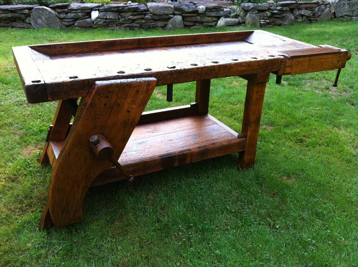 Fantastic 19th C Antique Woodworking Bench