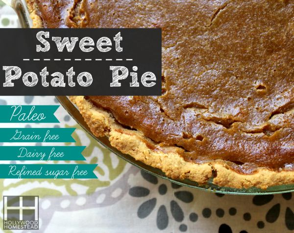 Paleo Sweet Potato Pie - Hollywood Homestead